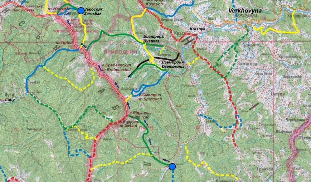 чорногора маршрут